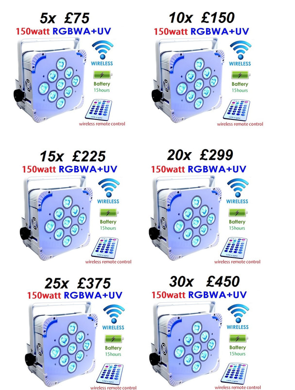 Wireless  led  uplighters hire